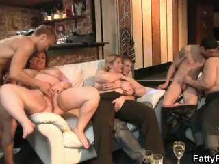 حزب الجنس, bbw gangbang, bbw group