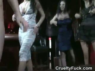 Drunken Women Sucking Dick At Reverse Gangbang Party