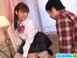 Rei Has Cumload Onto Uniform Skirt