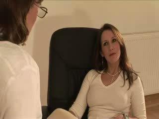 British mature Lady Sonia gets a spunk...