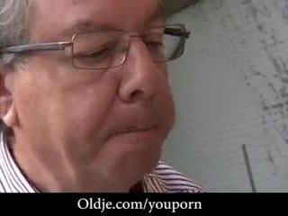 Sucking oldje's poison