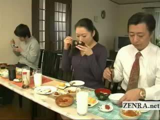 Subtitled bizarro japonesa bottomless no bragas familia