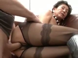 Hairy Mature In Sexy Pantyhose F.