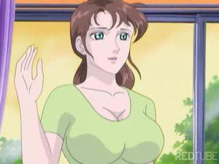 Krūtainas manga meitene taken līdz nerd