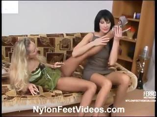 足フェチ, セックスストッキング, sexy nylon legs and feet
