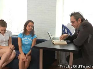 Tricky old guru: perverted guru fucks two hotties