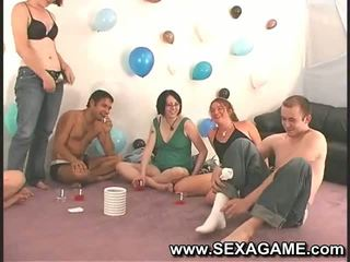 Lots of kissing during horny student games
