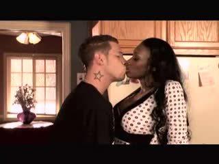 Ebony MILF Nyomi Banxxx fucked by big white dick