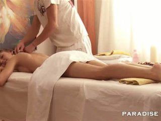 Gorgeous Skinny gets a massage <span c...