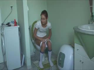 Polish Natasha at water closet