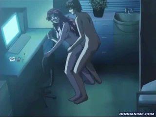 En soving hentai jente takes en kuk og en bukkake
