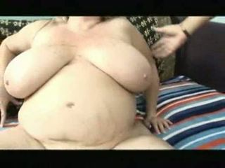 Blondine bbw deedra rae taking op een lul