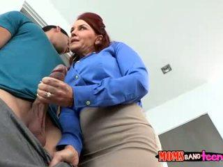 Two redhead women shared a hard schlong