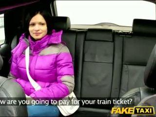 Sylva gets screwed iekšā the taxi cab