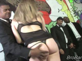 Kinzy jo gets bukkaked līdz ten blacks