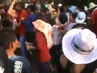 Thailand köy kızlar sizzling dance içinde public- p