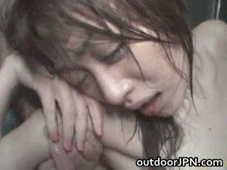 Akari hoshino japońskie na zewnątrz ciężko