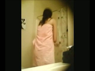 Indiano campus miele recorded da nascosto webcam in douche