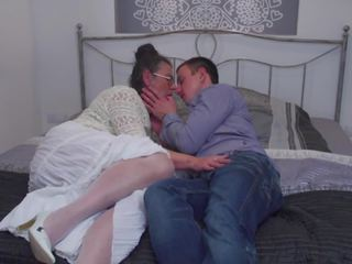 Hairy Mature Mom Suck and Fuck Lucky Son, Porn 8b