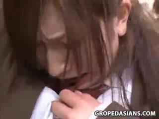 Innocent فتاة قسري جنس في ل قطار