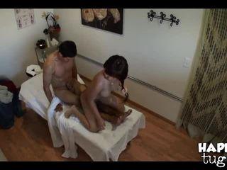 brunette, oil, massage room
