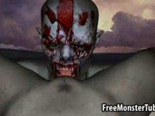 Foxy 3d zombie babe getting licked en geneukt hard