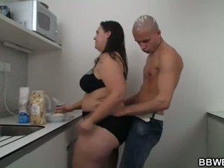 Caldi bella e grassa (bbw) sesso a il cucina