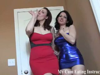 Made to eat your cum by your hot roommates CEI