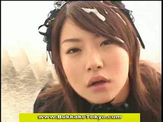Asian and japanese bukkake