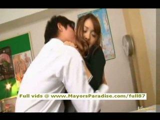 Mihiro from idol69 aziýaly ýaşlar brunet gets licked