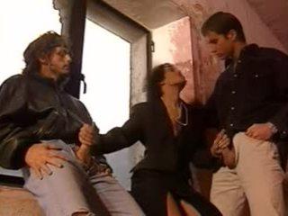 Warga itali klasik bertiga tindakan video