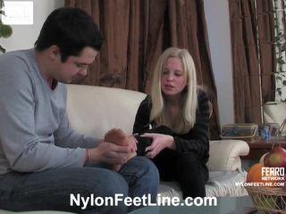 Paulina en adam panty footfuck film