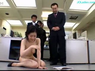 Office lady getting her pussy stimulat...