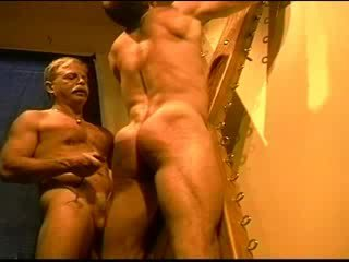 Huge bodybuilder's muscle bokong gets an bokong whuppin' as only i can give it. clip 3