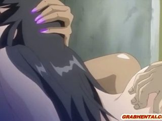 Busty hentai nurse hard poking from behind