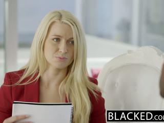 Blacked biznes blondynka anikka albrite tyłek fucked przez a bbc