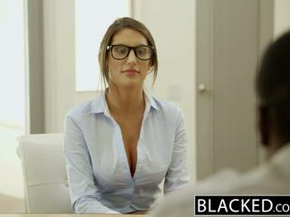 Blacked august ames gets an interrasial creampie