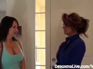 Milf deauxma scissors angie til selge henne hus!