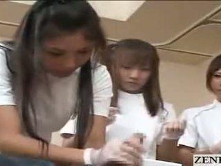 Japanese Nurses Making Patient Happy