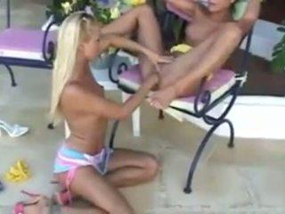 pussy menjilat, lesbian, gadis pada gadis