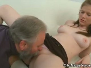 Maria lets an old guy fuck her