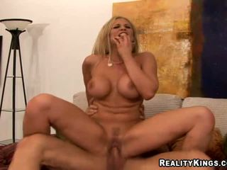 Busty blonde boss banging her employe