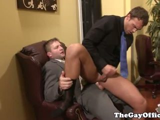 Office sex with muscle boss Colby Jansen