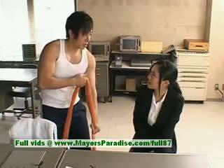 Sora aoi innocent obraznic asiatic secretara enjoys getting