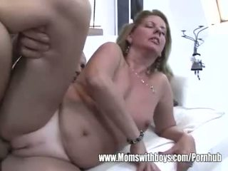 Cougar Fucks After She Catches Her Stepson Masturbating