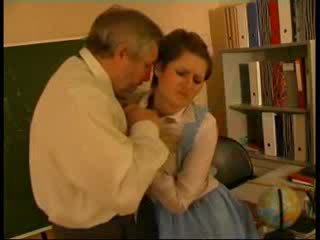 Teacher abused german doll