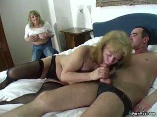Afortunado guy fucks two impresionante abuelitas