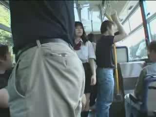 Japoniškas mokinukė ir maniac į autobusas video