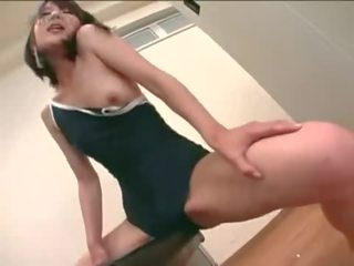brünette, japanisch, orgasmus