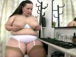 bộ ngực to, bbw, sự thủ dâm